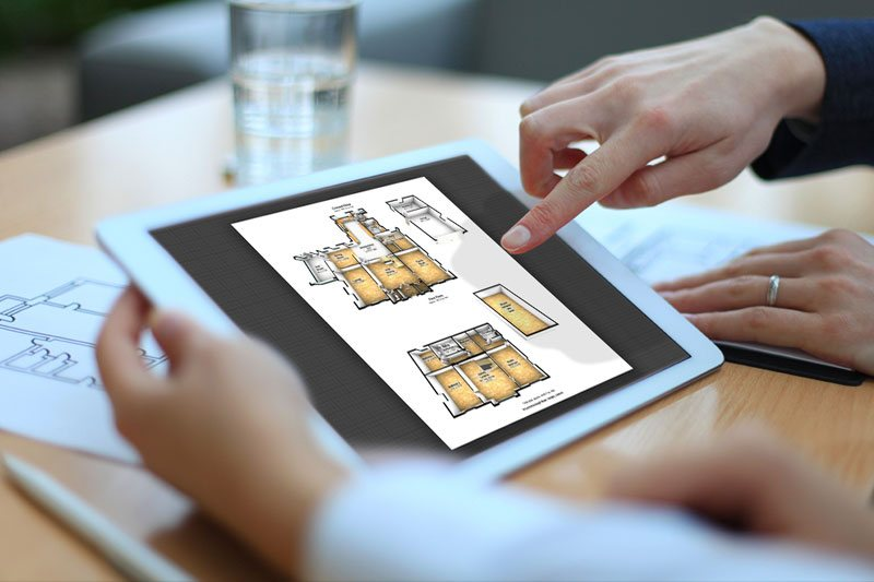 3D Floor Plans Shown On Tablet