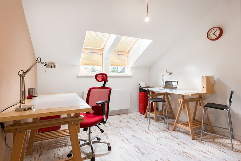 Converted Attic Office Space